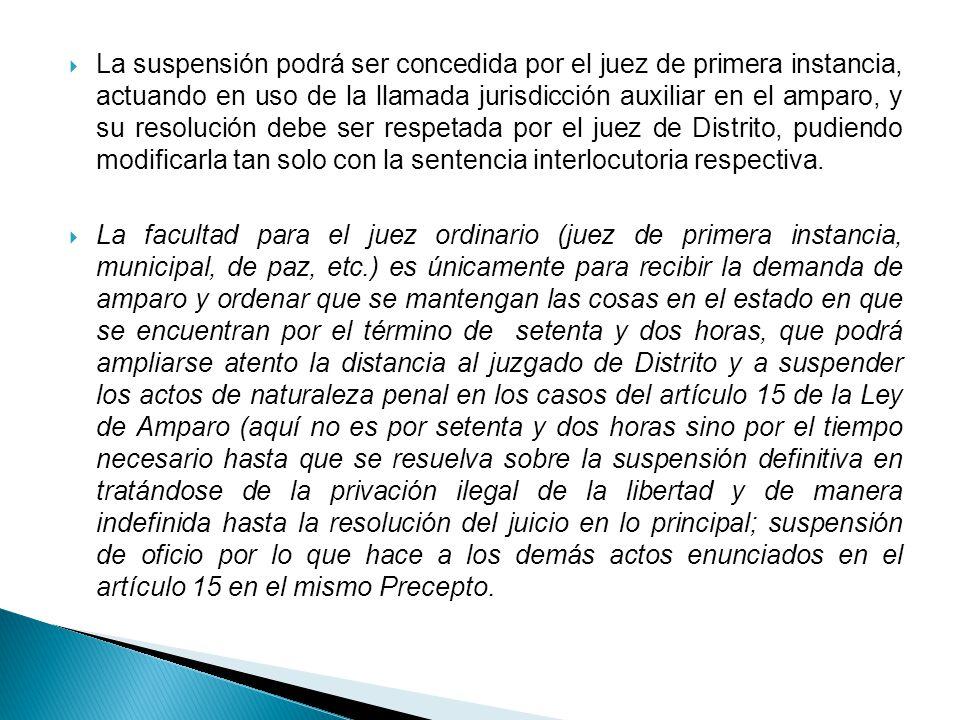 Para la concesión de la suspensión provisional el juez debe en primer lugar tener por cierto el acto reclamado, puesto que aún no hay informe previo y se atiende a la protesta de decir verdad del quejoso.