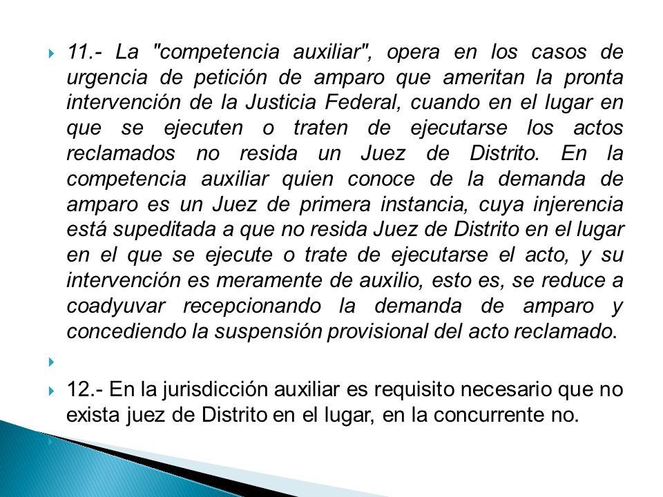 Como corolario a lo anterior; podemos decir que los órganos encargados de conocer del juicio de amparo son los siguientes: La Suprema Corte de justicia de la Nación en pleno o Salas.