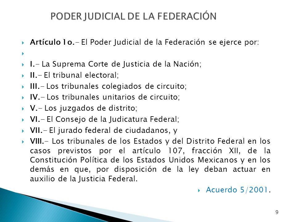 Los tribunales del Poder Judicial de la Federación, ejercerán jurisdicción ordinaria cuando se trata de controversias a que se refieren los artículos 104 y 106 de la Constitución.
