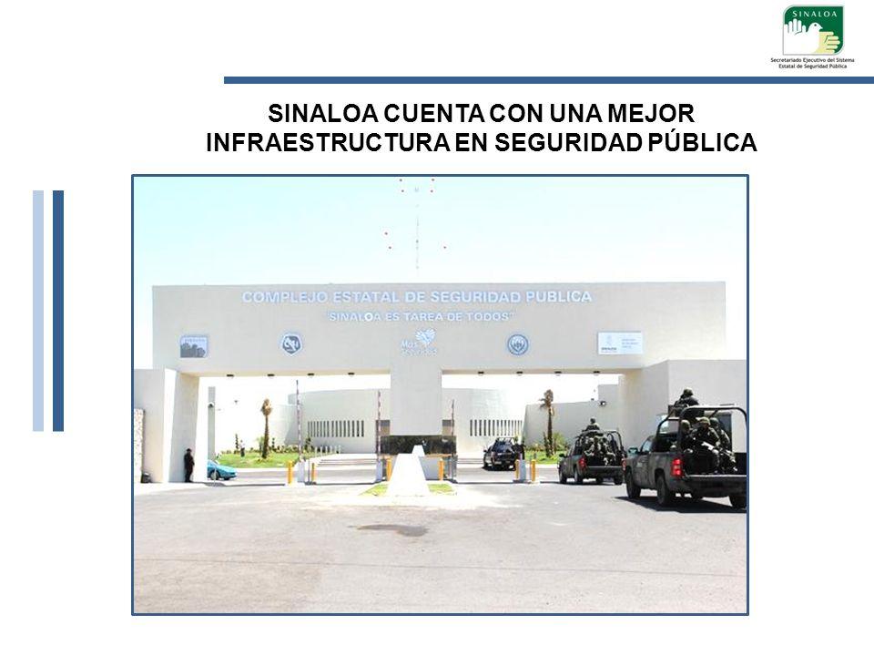 SINALOA CUENTA CON UNA MEJOR INFRAESTRUCTURA EN SEGURIDAD PÚBLICA