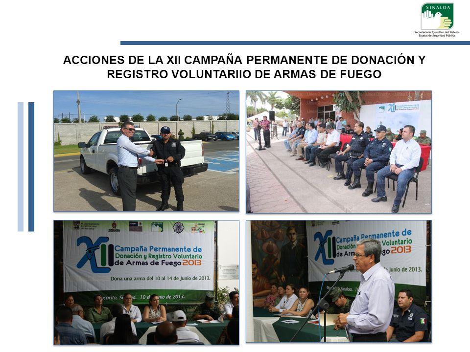 ACCIONES DE LA XII CAMPAÑA PERMANENTE DE DONACIÓN Y REGISTRO VOLUNTARIIO DE ARMAS DE FUEGO