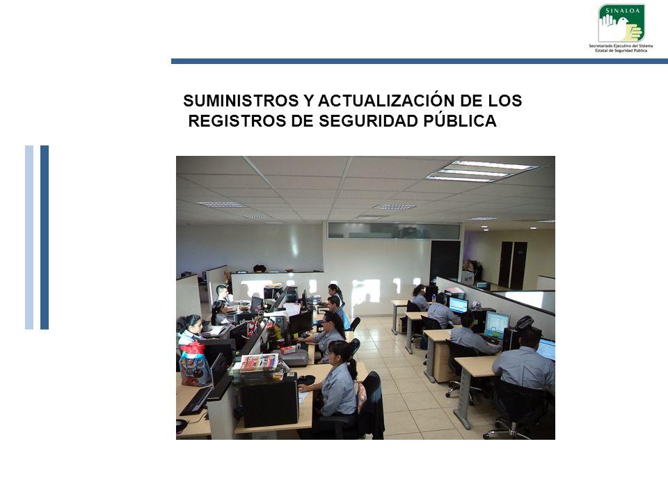 SUMINISTROS Y ACTUALIZACIÓN DE LOS REGISTROS DE SEGURIDAD PÚBLICA