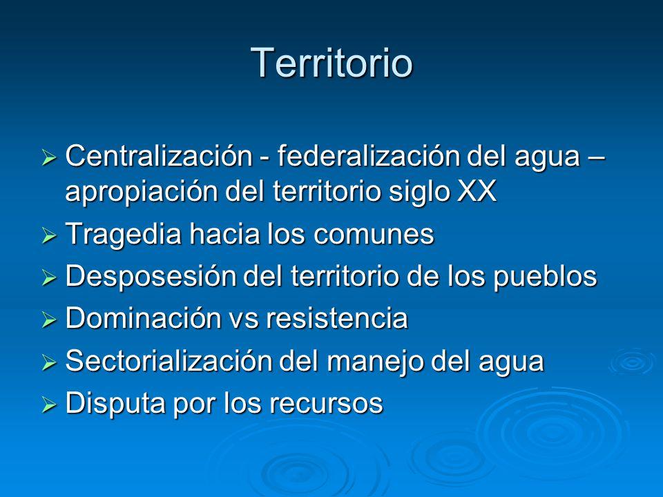 Centralización del agua en el centro de México Centralización – apropiación del territorio Ley de aguas (1929): Quedan sujetos a la ley los manantiales y vasos lacustres de la ZLAL Ley de aguas (1929): Quedan sujetos a la ley los manantiales y vasos lacustres de la ZLAL Nacionalización progresiva de las aguas de los manantiales y del río Lerma Nacionalización progresiva de las aguas de los manantiales y del río Lerma