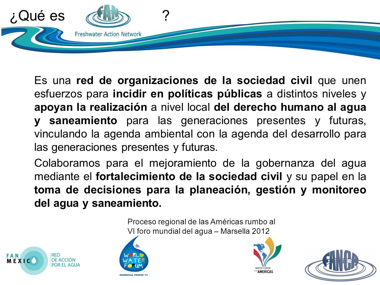 Proceso regional de las Américas rumbo al VI foro mundial del agua – Marsella 2012 ¿Qué es .