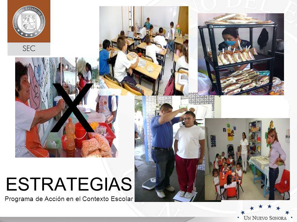 ESTRATEGIAS Programa de Acción en el Contexto Escolar X