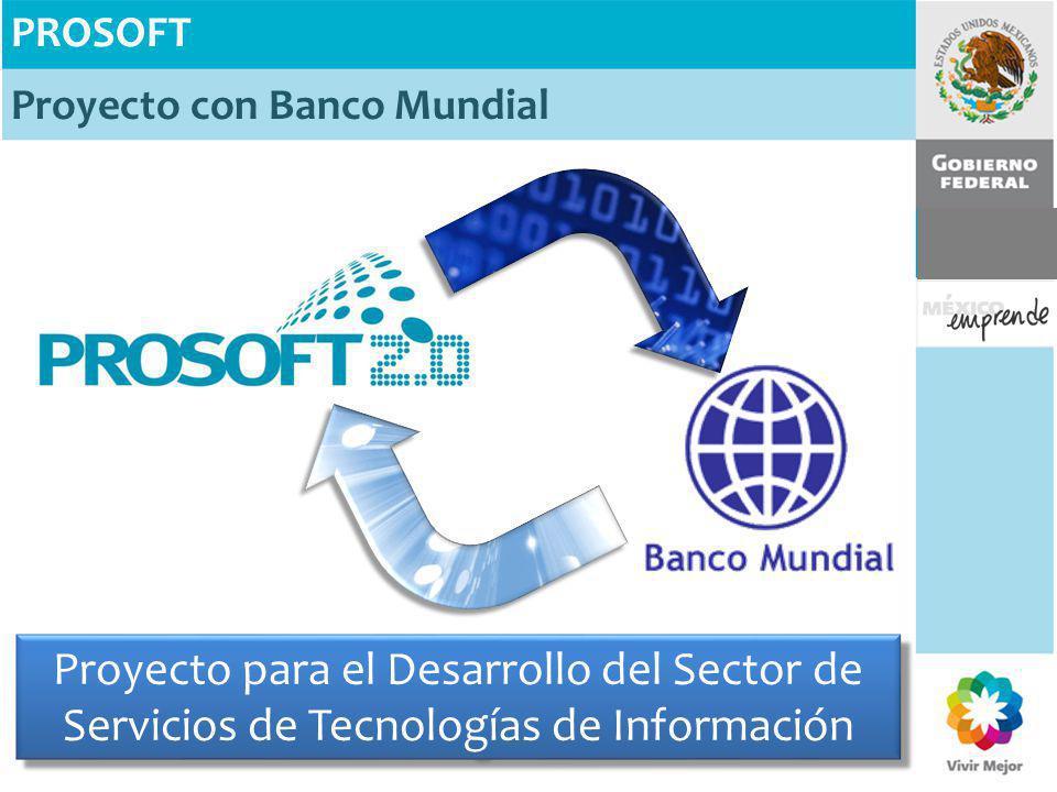 PROSOFT Proyecto con Banco Mundial Proyecto para el Desarrollo del Sector de Servicios de Tecnologías de Información