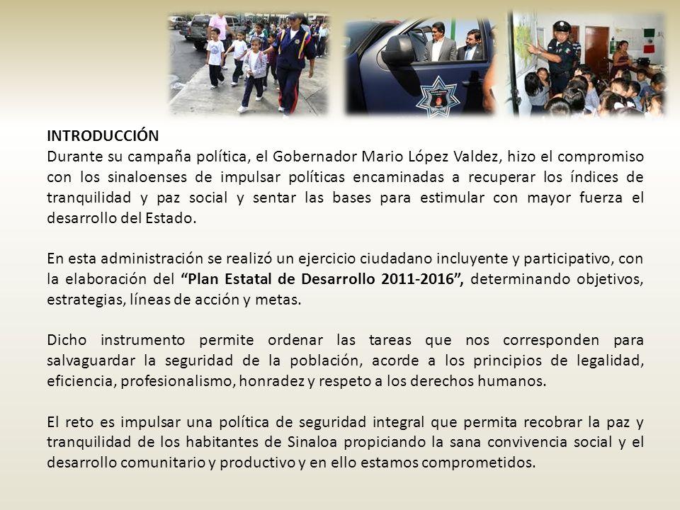 INTRODUCCIÓN Durante su campaña política, el Gobernador Mario López Valdez, hizo el compromiso con los sinaloenses de impulsar políticas encaminadas a
