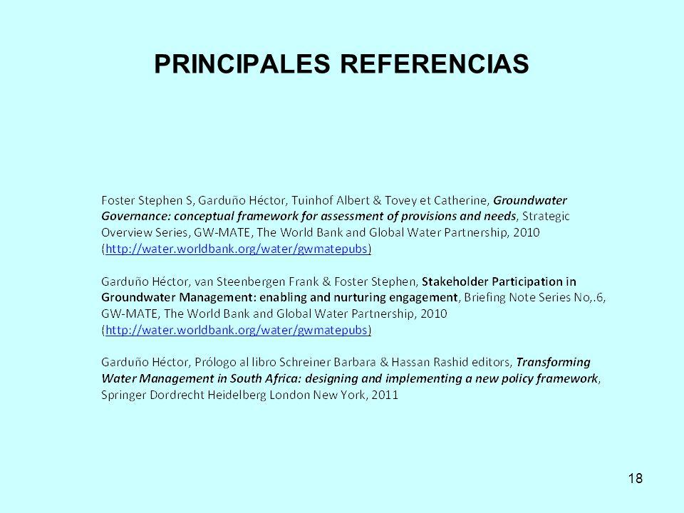 PRINCIPALES REFERENCIAS 18