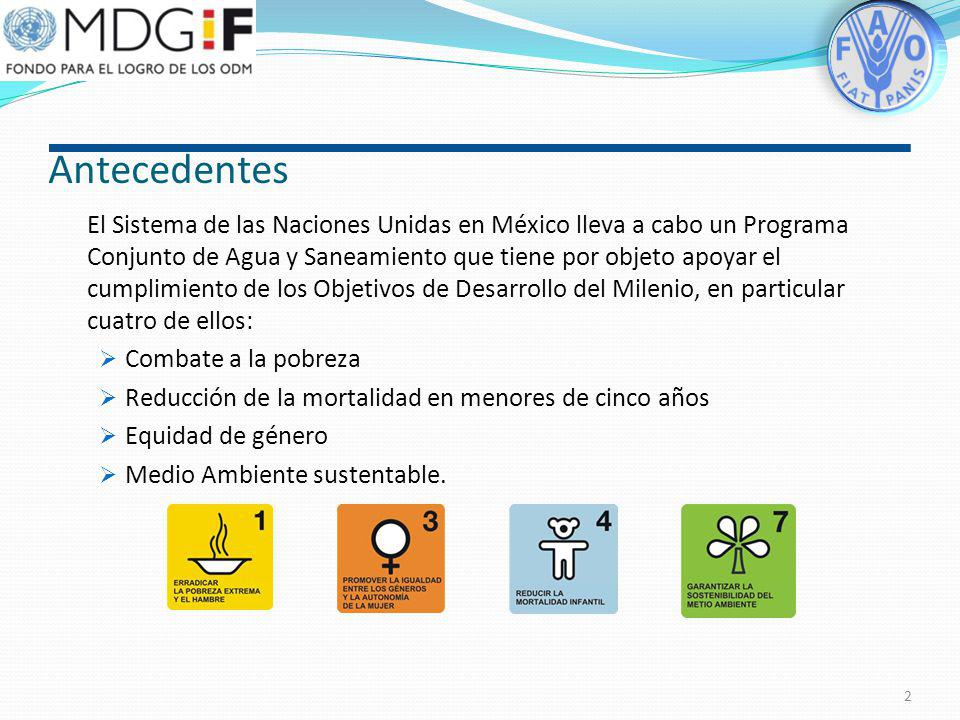 FAO-México PROGRAMA CONJUNTO DEL GOBIERNO DE LOS ESTADOS UNIDOS MEXICANOS Y EL SISTEMA DE LAS NACIONES UNIDAS EN MEXICO OPAS-1816 Fortalecer la gestió