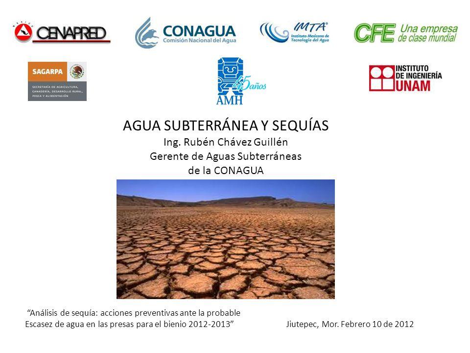 Análisis de sequía: acciones preventivas ante la probable Escasez de agua en las presas para el bienio 2012-2013 Jiutepec, Mor. Febrero 10 de 2012 AGU