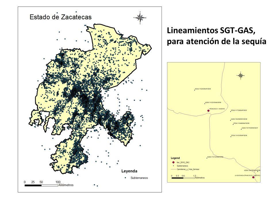 Lineamientos SGT-GAS, para atención de la sequía