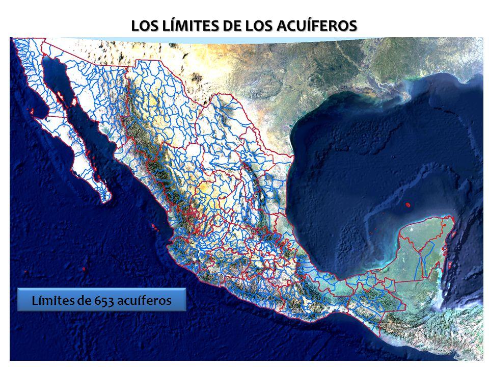 Límites de 653 acuíferos LOS LÍMITES DE LOS ACUÍFEROS