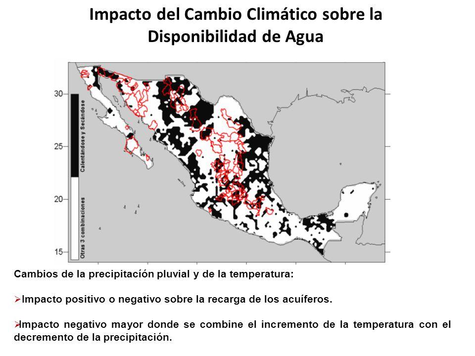 Impacto del Cambio Climático sobre la Disponibilidad de Agua Cambios de la precipitacíón pluvial y de la temperatura: Impacto positivo o negativo sobr