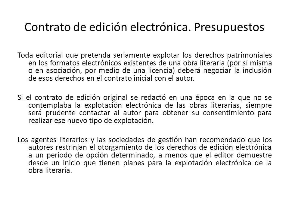 Contrato de edición electrónica.