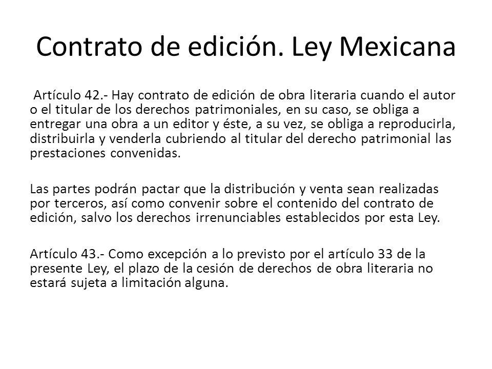 Contrato de edición.