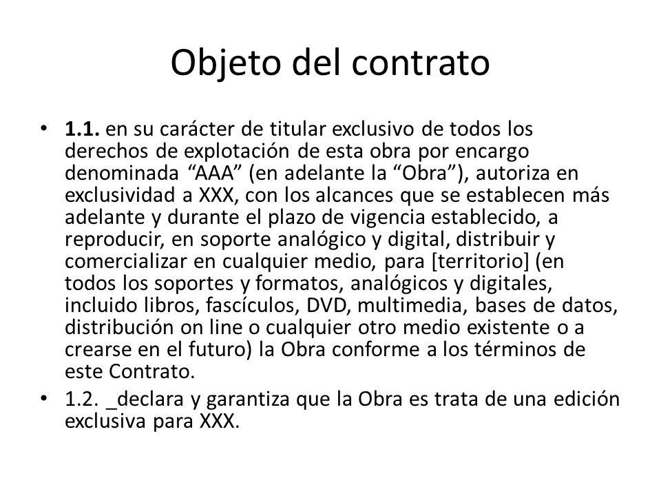 Objeto del contrato 1.1.