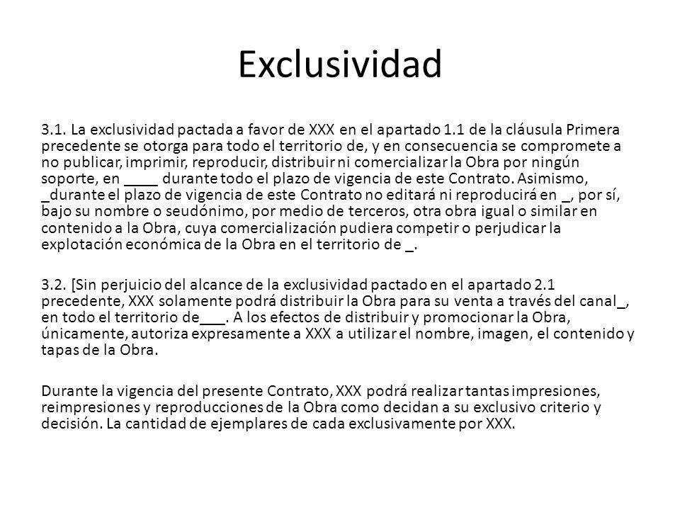 Exclusividad 3.1.