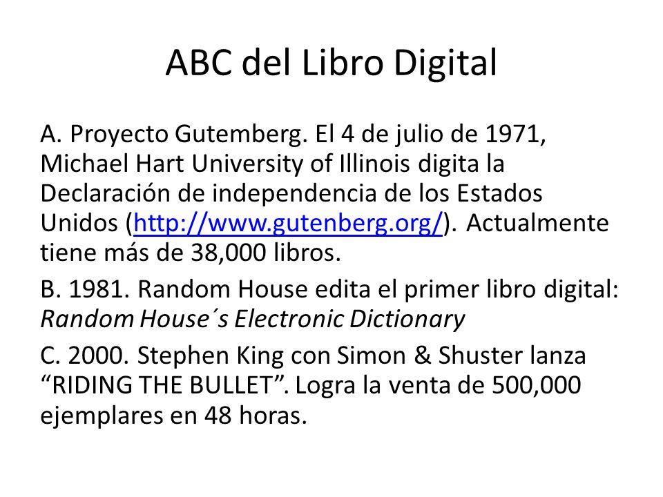 ABC del Libro Digital A.Proyecto Gutemberg.