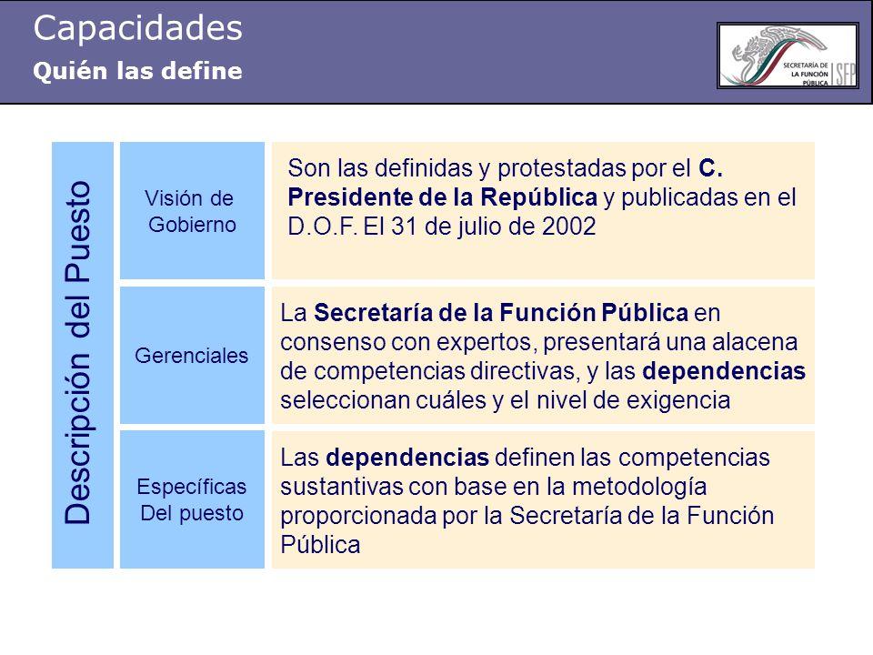 Son las definidas y protestadas por el C.Presidente de la República y publicadas en el D.O.F.