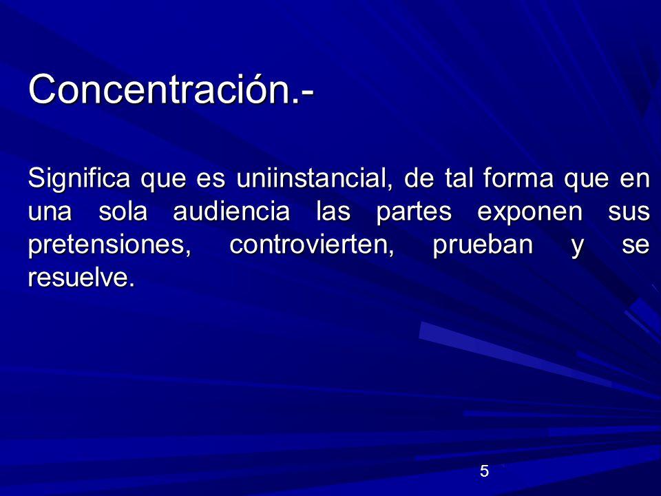 6 Continuidad.- Continuidad.- Significa que actos procesales de distinta naturaleza se llevan a cabo en una audiencia, al concluir una fase o etapa automáticamente se da nacimiento a la otra.
