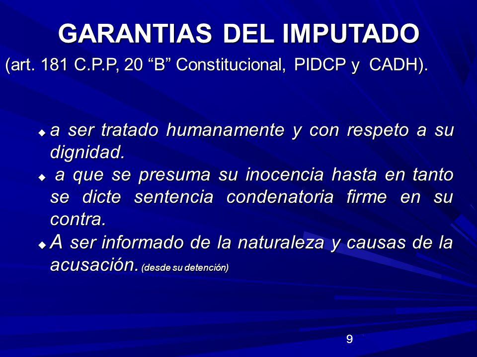 30 CRITERIOS DE OPORTUNIDAD () (art.21 Const.