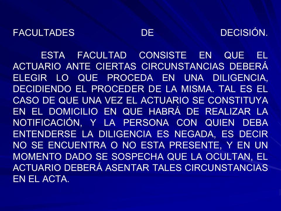 FACULTADES DE DECISIÓN.
