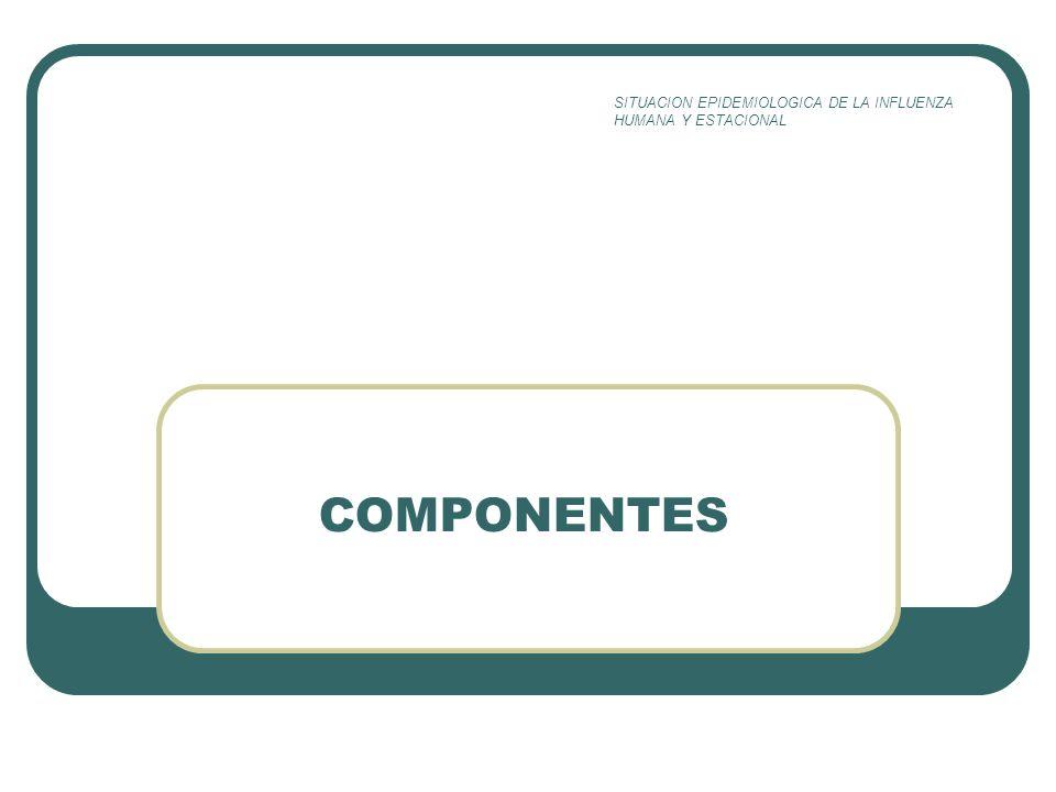 COMPONENTES SITUACION EPIDEMIOLOGICA DE LA INFLUENZA HUMANA Y ESTACIONAL