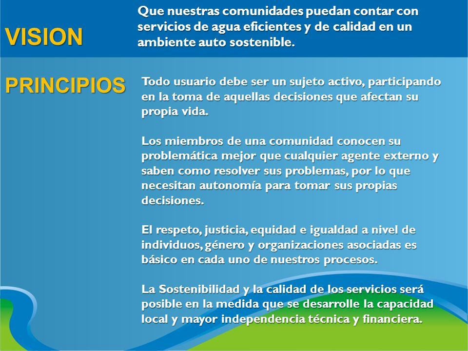 VENTAJAS PARA EL DESARROLLO COMUNITARIO Previa capacitación, la comunidad participa en la conducción de su propio proceso de desarrollo, el cual es facilitado por el Técnico de la asociación.