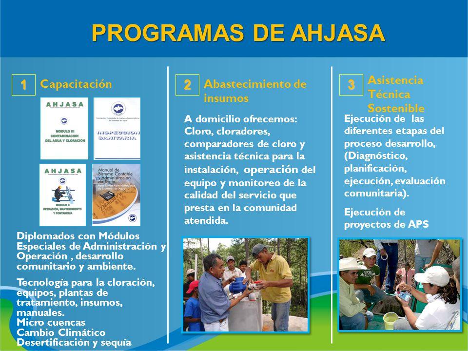 Diplomados con Módulos Especiales de Administración y Operación, desarrollo comunitario y ambiente. Tecnología para la cloración, equipos, plantas de