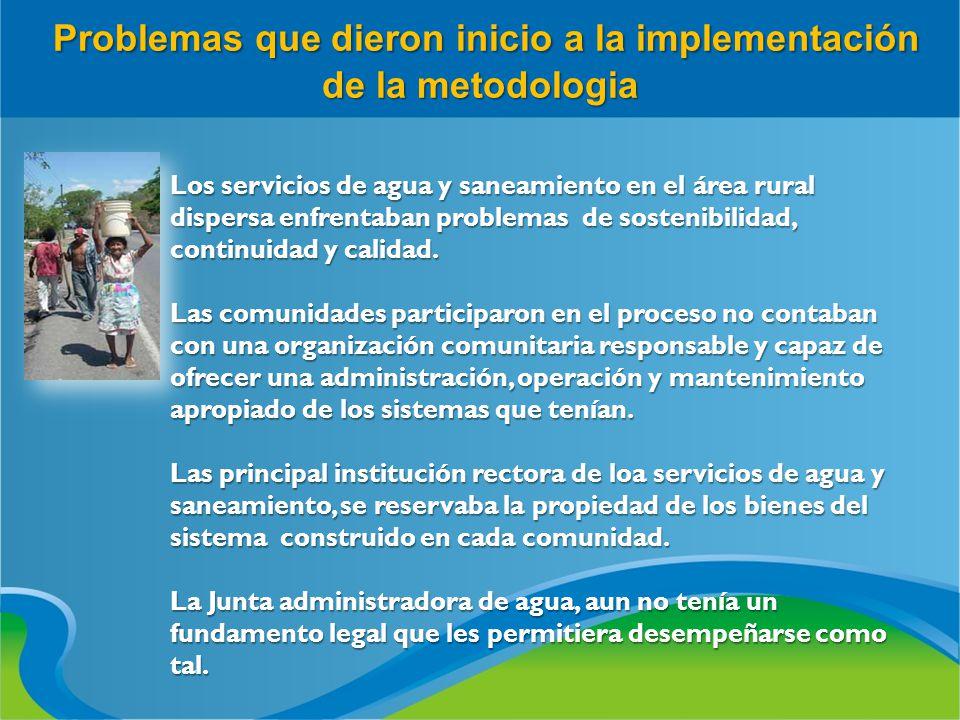 Problemas que dieron inicio a la implementación de la metodologia Problemas que dieron inicio a la implementación de la metodologia Los servicios de a