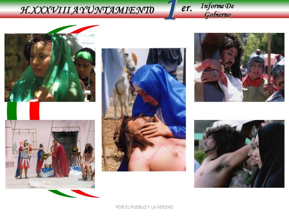 Informe De Gobierno Informe De Gobierno er.1 H.XXXVIII AYUNTAMIENT0 POR EL PUEBLO Y LA VERDAD