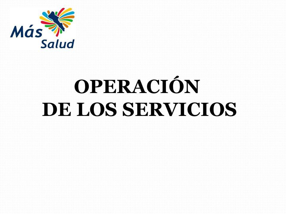 OPERACIÓN DE LOS SERVICIOS