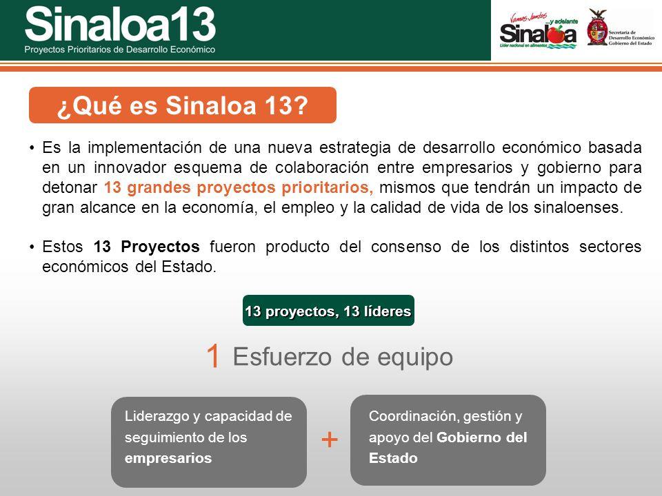 Proyectos Prioritarios de Desarrollo Económico Sinaloa25 ¿Qué es Sinaloa 13? Es la implementación de una nueva estrategia de desarrollo económico basa