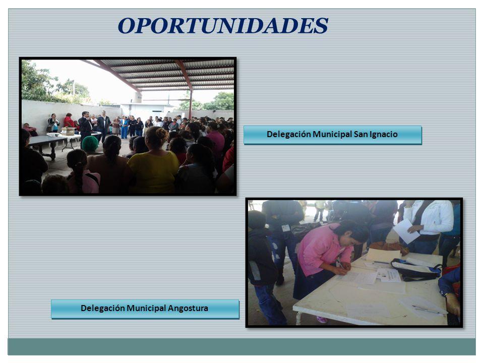 OPORTUNIDADES Delegación Municipal San Ignacio Delegación Municipal Angostura