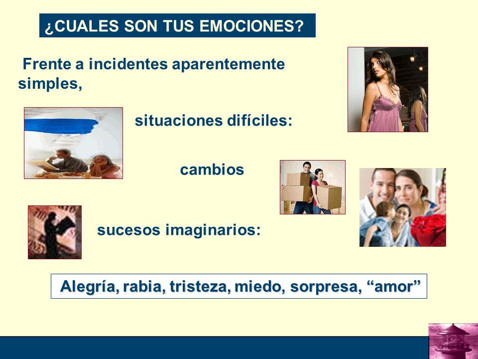 10 Frente a incidentes aparentemente simples, ¿CUALES SON TUS EMOCIONES.