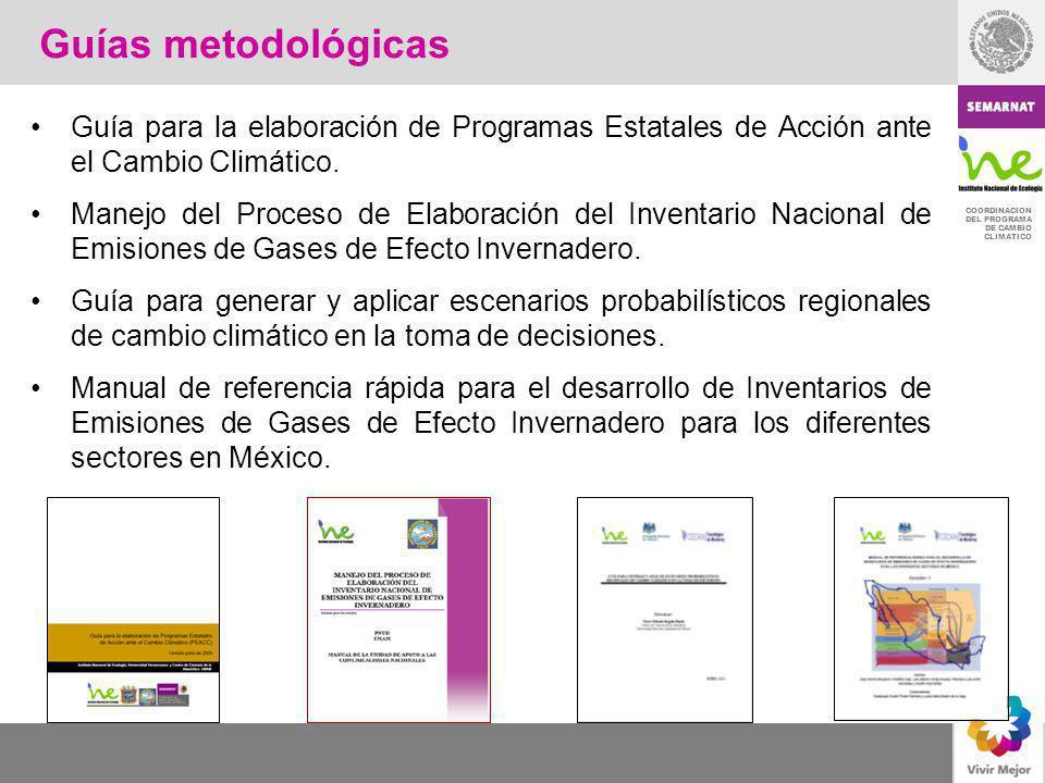 COORDINACION DEL PROGRAMA DE CAMBIO CLIMATICO Principales líneas de acción de la ICCEM Las principales de la ICCEM son fortalecer y continuar con los programas que han tenido resultados ambientales como: Programa para Mejorar la Calidad del Aire en la Zona Metropolitana del Valle de México 2002-2010 Proaire; Aire Limpio y otros.