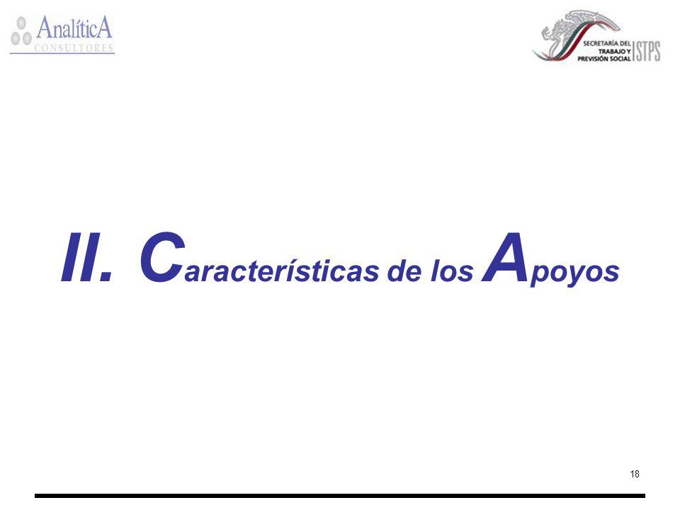 18 II. C aracterísticas de los A poyos
