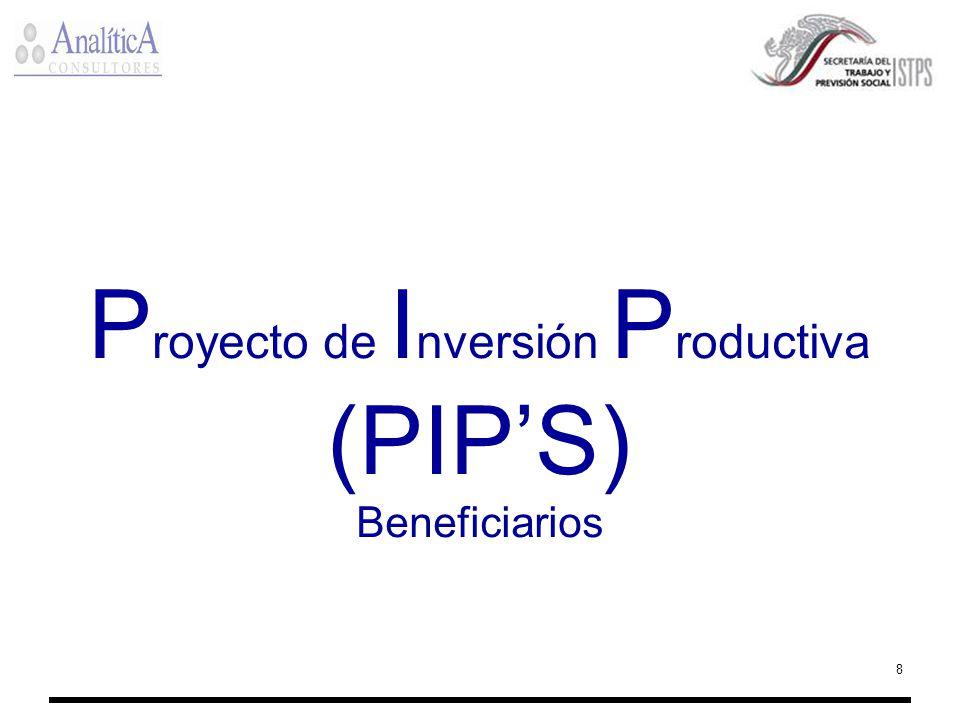 8 P royecto de I nversión P roductiva (PIPS) Beneficiarios
