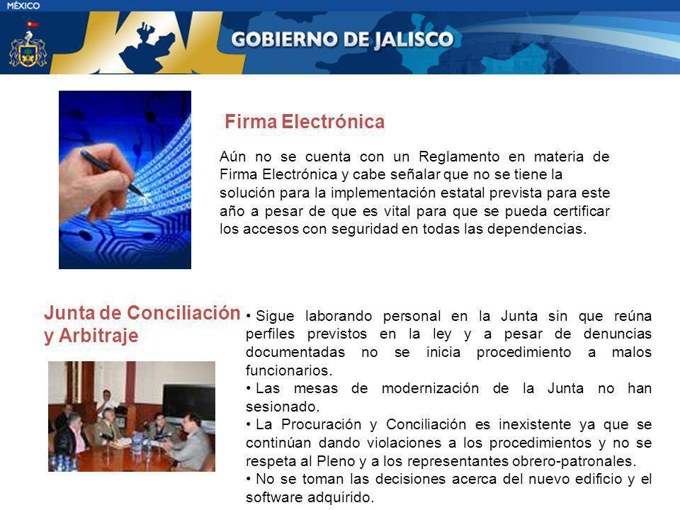 Aún no se cuenta con un Reglamento en materia de Firma Electrónica y cabe señalar que no se tiene la solución para la implementación estatal prevista