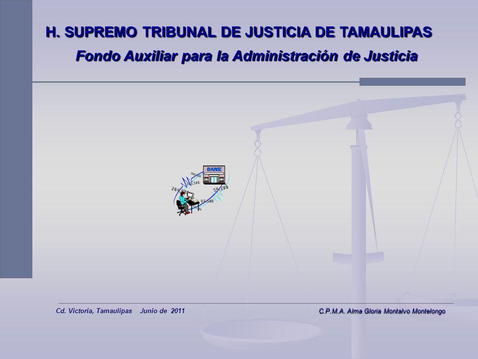 Fondo Auxiliar para la Administración de Justicia Estructura Estructura Operación Operación Operación Operación Captación y Dispersión de Recursos Cap