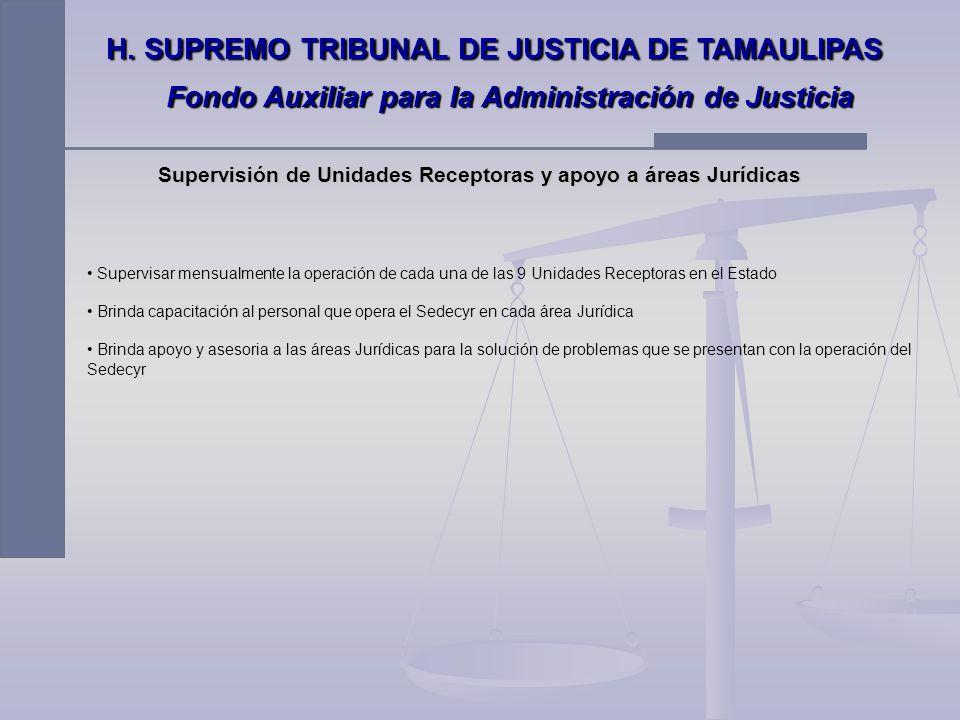 Coordinación de Egresos Recepciona Retiros de Garantía de las 108 áreas Jurídicas que conforman el Supremo Tribunal de Justicia del Estado de Tamaulip