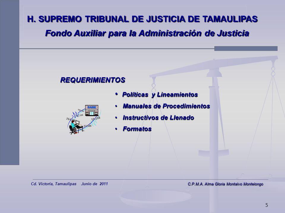4 H. SUPREMO TRIBUNAL DE JUSTICIA DE TAMAULIPAS Fondo Auxiliar para la Administración de Justicia BASE DEL MODELO DE OPERACIÓN: 1.Sistema Electrónico