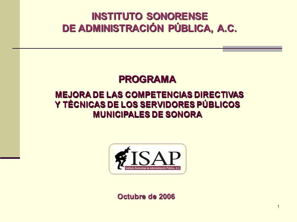 1 INSTITUTO SONORENSE DE ADMINISTRACIÓN PÚBLICA, A.C.