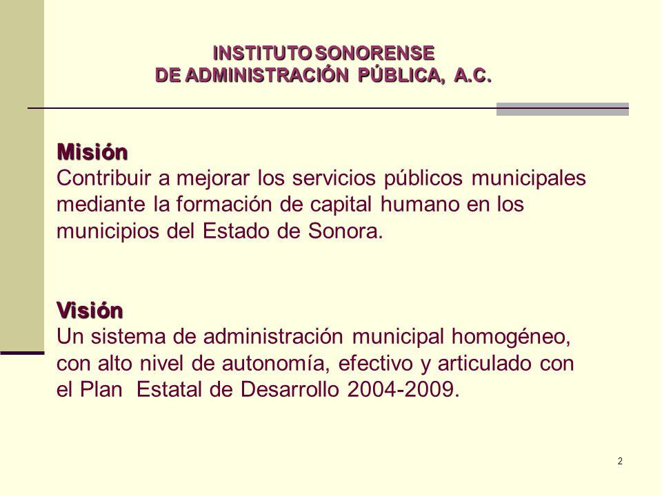 2 INSTITUTO SONORENSE DE ADMINISTRACIÓN PÚBLICA, A.C.
