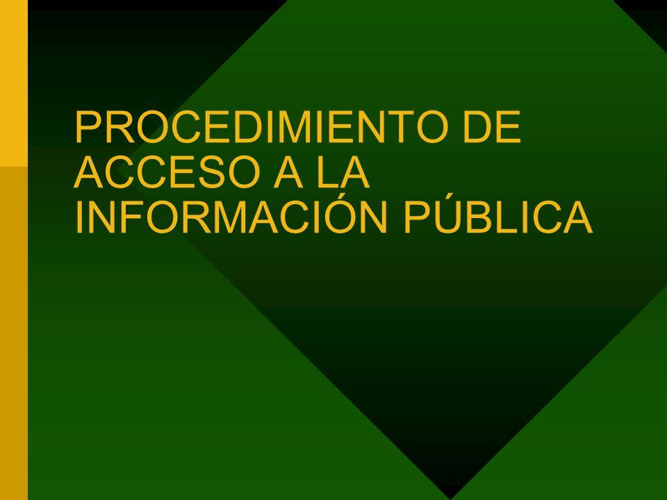 PROCEDIMIENTO DE ACCESO A LA INFORMACIÓN PÚBLICA