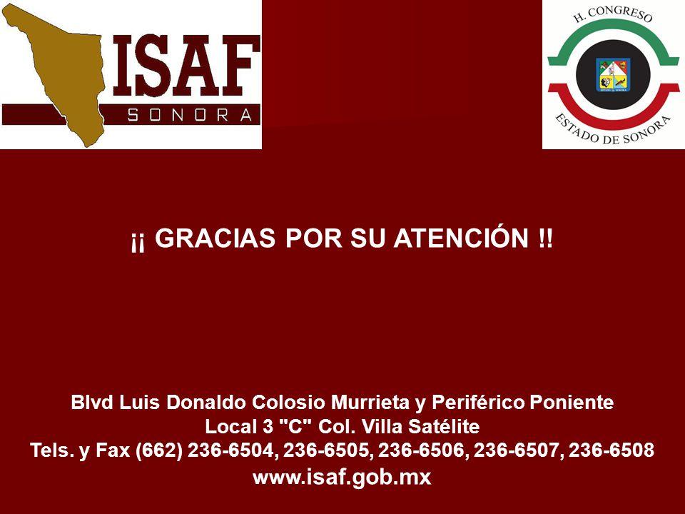 ¡¡ GRACIAS POR SU ATENCIÓN !! Blvd Luis Donaldo Colosio Murrieta y Periférico Poniente Local 3