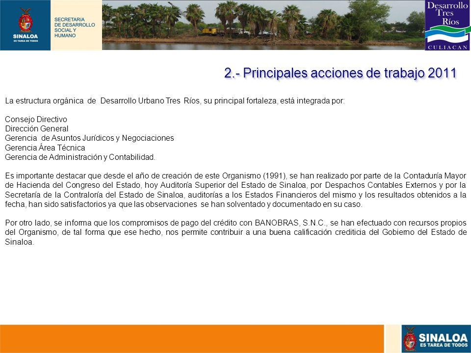 15 La estructura orgánica de Desarrollo Urbano Tres Ríos, su principal fortaleza, está integrada por: Consejo Directivo Dirección General Gerencia de
