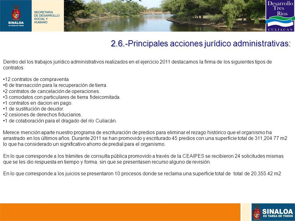 28 Dentro del los trabajos jurídico administrativos realizados en el ejercicio 2011 destacamos la firma de los siguientes tipos de contratos: 12 contr