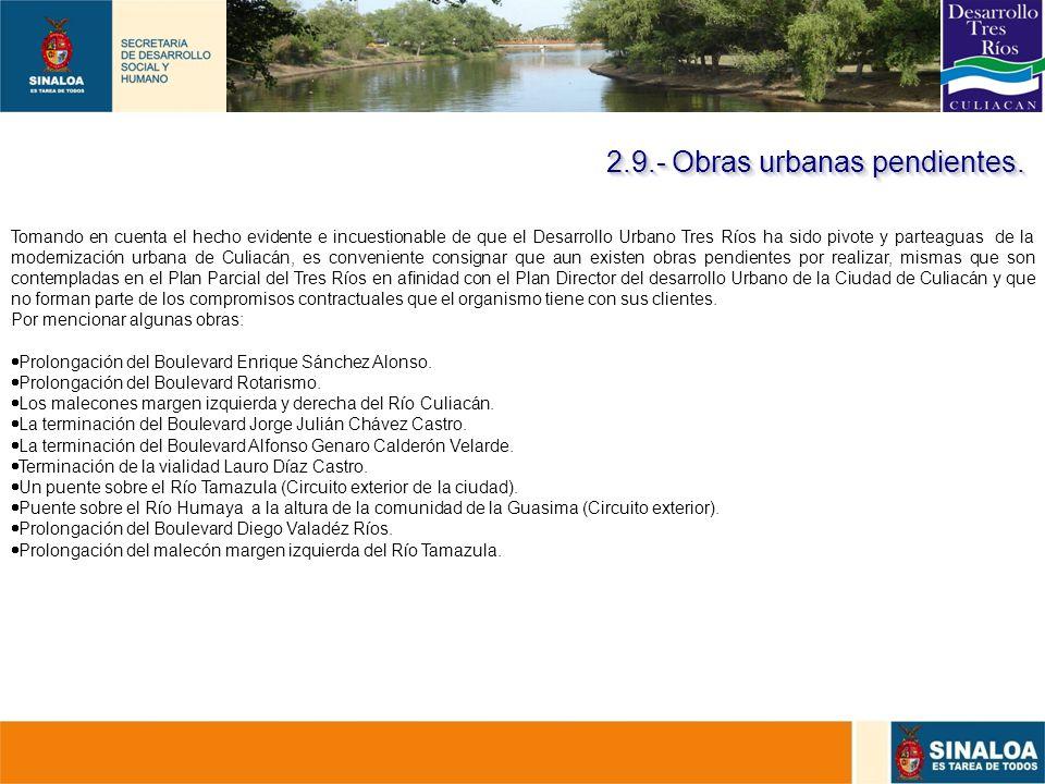 37 Tomando en cuenta el hecho evidente e incuestionable de que el Desarrollo Urbano Tres Ríos ha sido pivote y parteaguas de la modernización urbana d