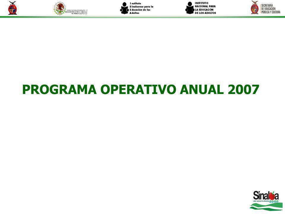PROGRAMA OPERATIVO ANUAL 2007